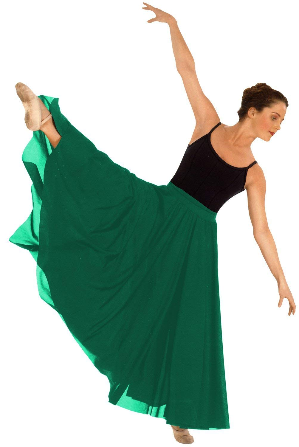 Eurotard 13674 Adult Triple Panel Lyrical Skirt,Green,One Size Fits All by Eurotard