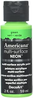 product image for DecoArt Americana Multi-Surface Neon Paint, 2-Ounce, Green