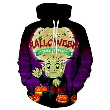 BBestseller 3D ImpresióN Manga Larga Otoño e Invierno Sudaderas Pullover Tops Blusa Unisexo Halloween Hoodie Camisetas Y Grande Bolsillo: Amazon.es: Ropa y ...