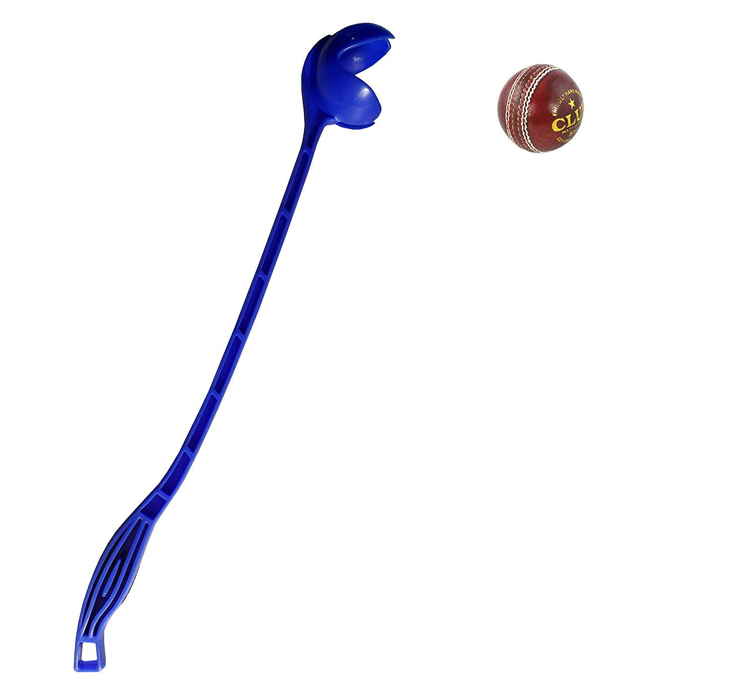 Blue Side Arm Cricket Ball ThrowerLeather Ball Thrower with Leather Ball US