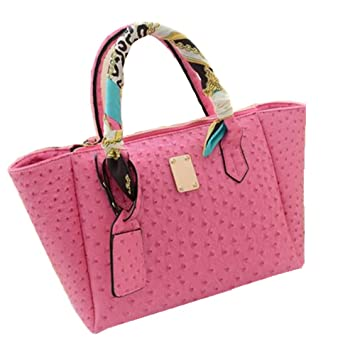 b4942bb09ecb Image Unavailable. Image not available for. Color  Classic Fashion Handbag  Ostrich Leather ...