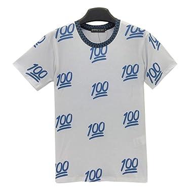 1d0a3d9ad69e Amazon.com  Summer 3d T Shirt Harajuku Style Emoji 100 Funny for Men ...