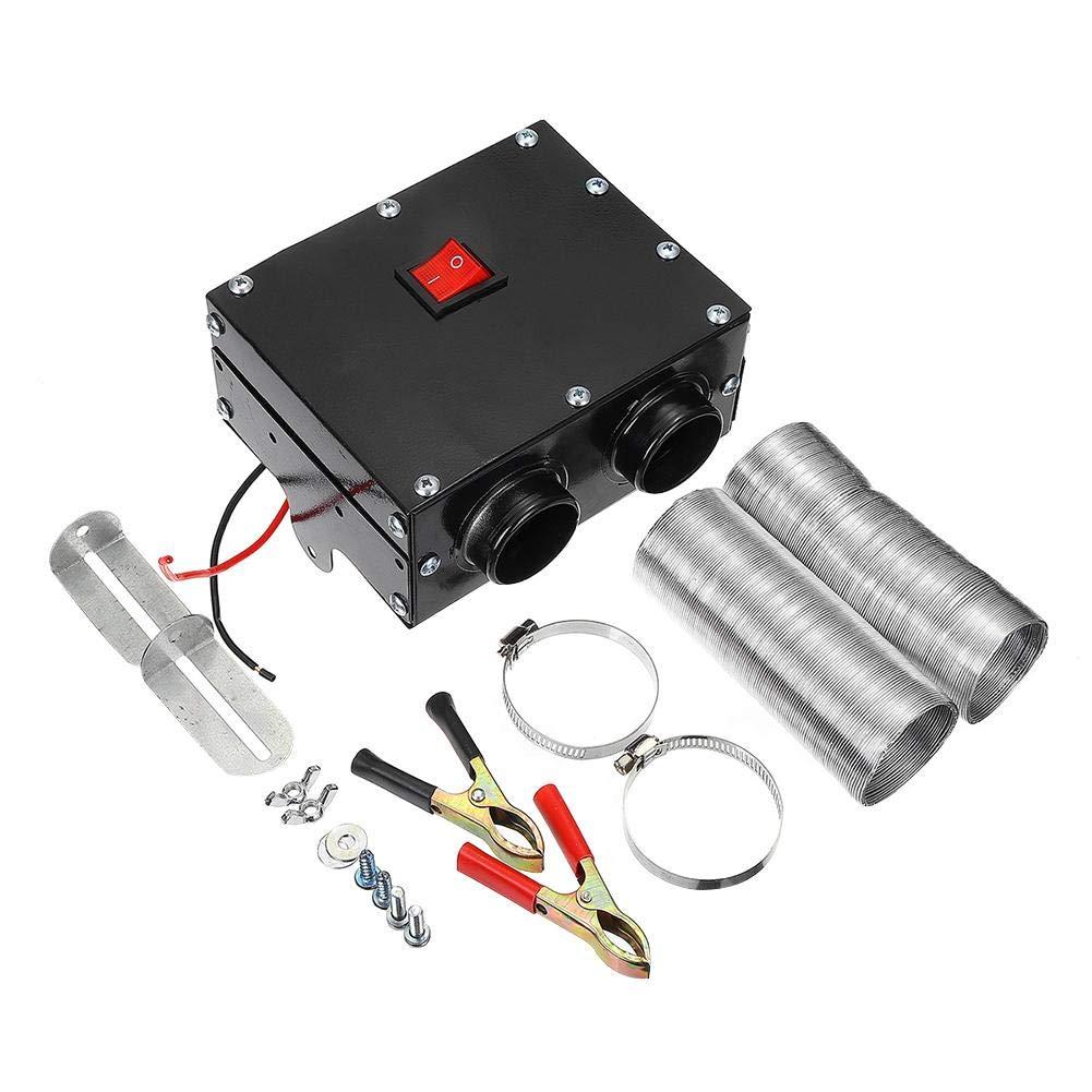 blue--net 24V 300W Car Truck Fan Heater, 2 Ports Portable Car Windscreen Demister Defogger Compact Air Heater Heating Warmer Car Heater Defroster