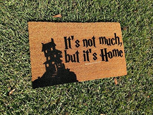 It's Not Much, But It's Home Burrow House Silhouette Fandom Doormat, Size Large - Welcome Mat - Doormat - Custom Hand Painted Doormat by Killer Doormats -