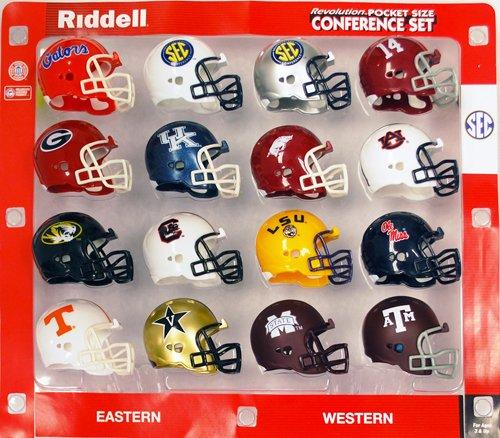 Riddell 12-Pack NCAA Revolution Pocket Pro SEC Conference Set ()