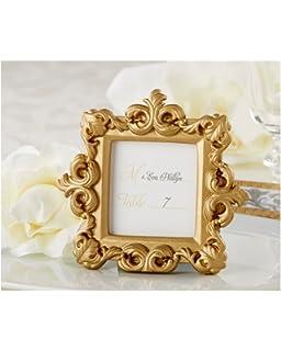 21807894af0 Amazon.com  FavorOnline Royale Gold Baroque Place Card Photo Holder ...