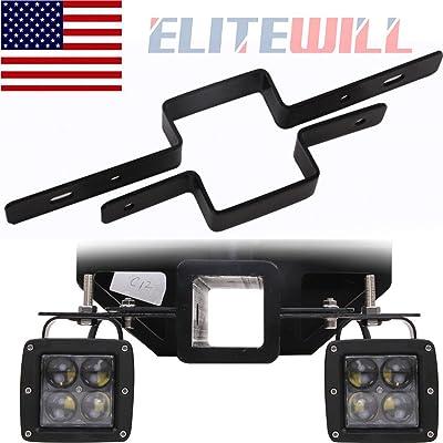 ELITEWILL 2'' Tow Light Bracket Steel Tow Hitch Mounting Bracket Dual LED Backup Reverse: Automotive