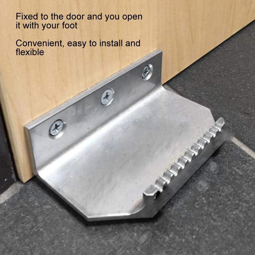 Useful Practical Toilet Bathroom for Home Hotel Leftwei Convenient Steel Material Door Opener Accessories Black Touchless Door Opener