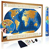 united states and canada puzzle - Deluxe XLARGE Scratch Off World Map Poster with US States and Country Flags, (35
