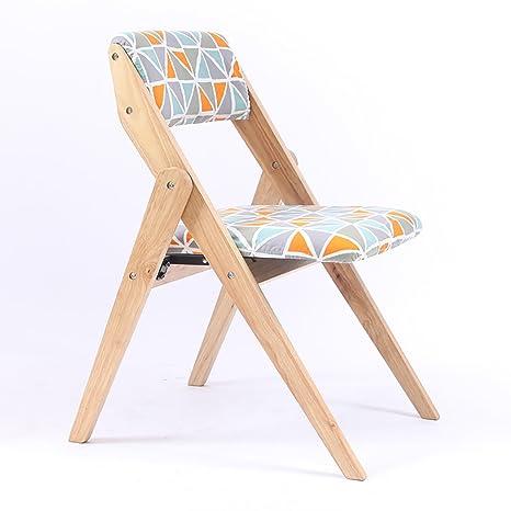 Amazon.com: JHZDY Silla plegable de madera para el hogar ...