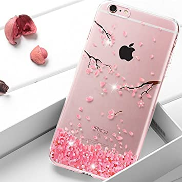 coque iphone 8 plus rose fleur