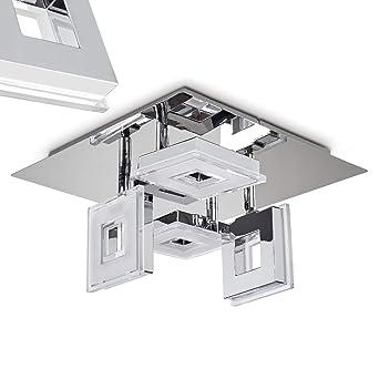 LED Deckenspot Krakau aus glänzendem Chrom - Deckenstrahler 4 ...