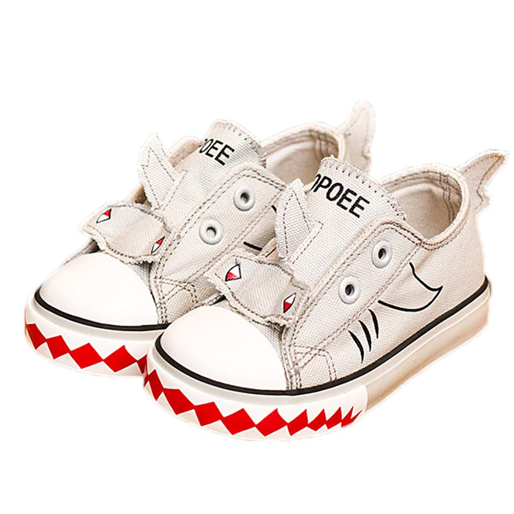 Toddler//Little Kid//Big Kid iFANS Child 3D Animal Slip On Shoes Canvas Sneakers
