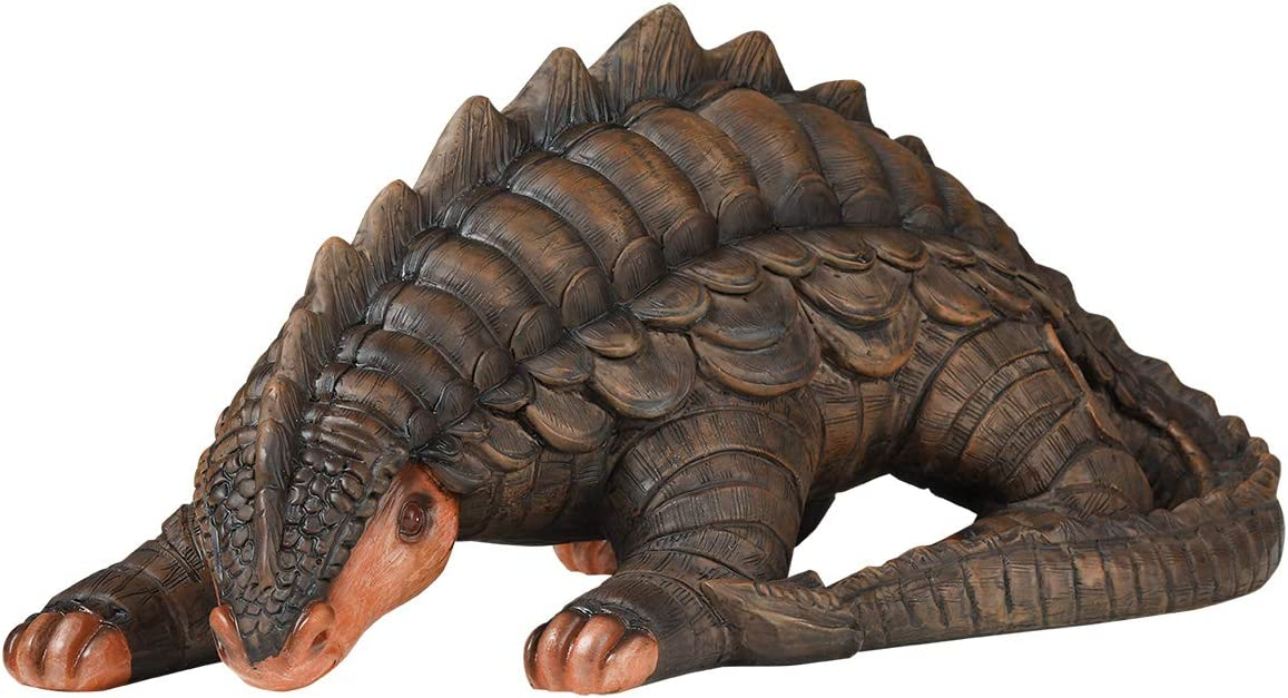 "LYASI Pangolin Dragon Garden Decor Animal Statue, 12""x6""x5"" Inch, Full Color, Family Outdoor Patio Yard Decorations (12 Inch-Pangolin Dragon)"