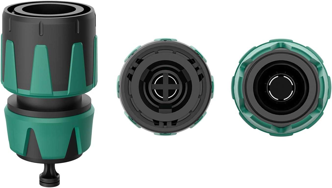 Hohe Schlauchhaltekraft 5//8 und 15 mm 1//2 Schneller und Einfacher Anschluss Einfacher Wechsel Norjews Schlauchverbinder und Wasserstop Satz 13 mm