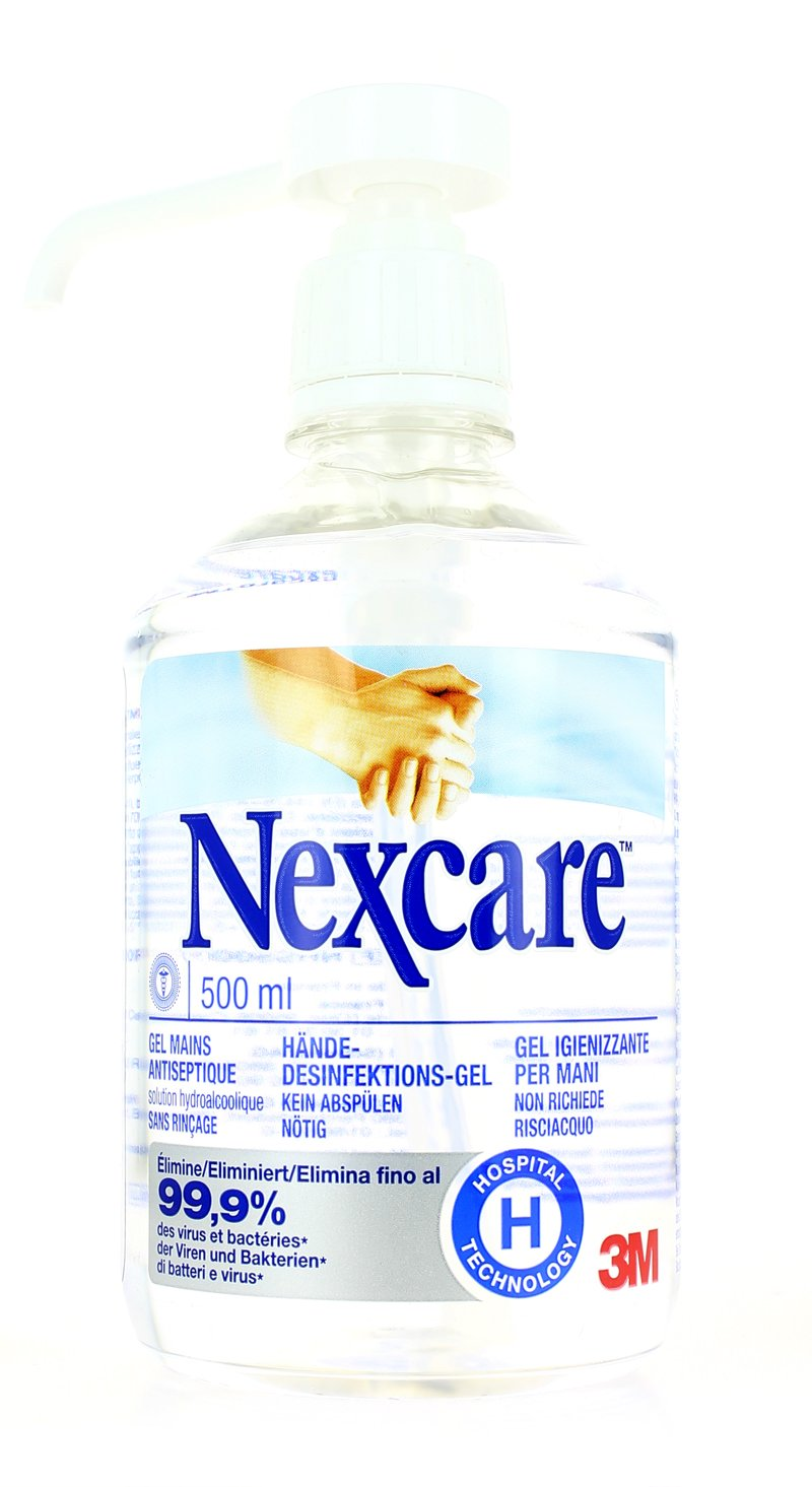 Nexcare Antiseptic Hand Gel 500 Ml English Language Not