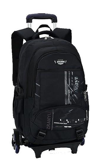 Fanci Teens Girls Boys Middle High School Trolley Rolling Backpack Book Bag  Waterproof Wheeled Backpack Carry ebb9e2ed2b31a