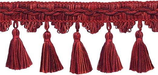 1 Yard Black Beaded Tassel Fringe Trim Ribbon for DIY Cushion Curtain Decor