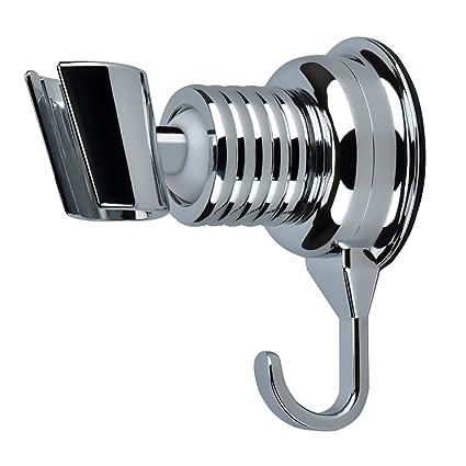 Shower Head Holder, Cozyswan Angle Adjustable Vacuum Suction Cup Handheld  Shower Bracket Bathroom Wall Head
