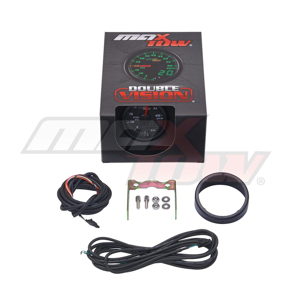 2-1//16 52mm Green LED Dial MaxTow Double Vision 4,000 PSI High Pressure Oil Pressure HPOP Gauge Black Gauge Face for 1994-2003 7.3L /& 2003-2007 6.0L Ford Power Stroke Diesel Engines