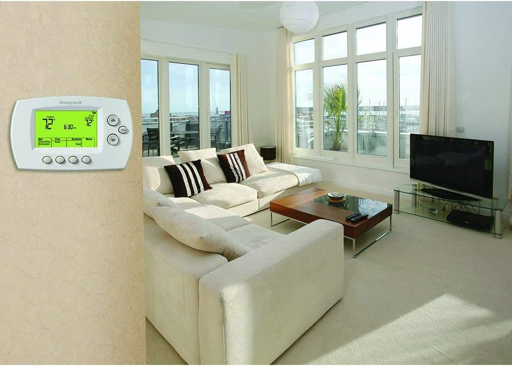 Requires C Wire Works with Alexa Honeywell Home Wi-Fi 7-Day Programmable Thermostat Renewed RTH6580WF