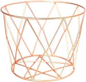 Alchemade Wire Storage Basket - Hand-Made Multi-Purpose Office Kitchen Organizer Holder Bin - Contemporary Industrial Style - Made