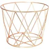 Alchemade Wire Storage Basket - Hand-Made Multi-Purpose Office Kitchen Organizer Holder Bin - Contemporary Industrial Style -