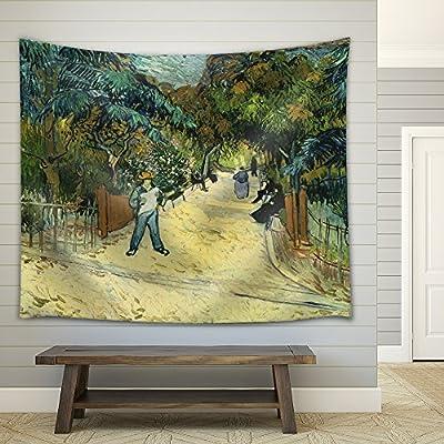 Elegant Handicraft, Entrance to The Public Park in Arles by Vincent Van Gogh, Classic Artwork