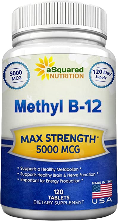 Amazon.com: Vitamina B12 - 5000 MCG suplemento con ...