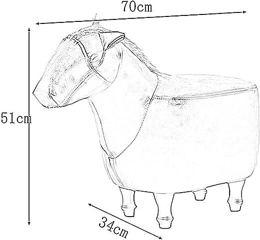 Colore: Marrone Scuro, Dimensioni: 70x34x51 cm LNDDP Poggiapiedi e Pouf Cavallo Morbido Multifunzionale con Struttura in Legno Antiscivolo Regalo per Festival Indoor Portatile 8 Colori