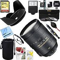 Nikon 28-300mm f/3.5-5.6G ED VR AF-S NIKKOR Lens + 64GB Ultimate Filter & Flash Photography Bundle