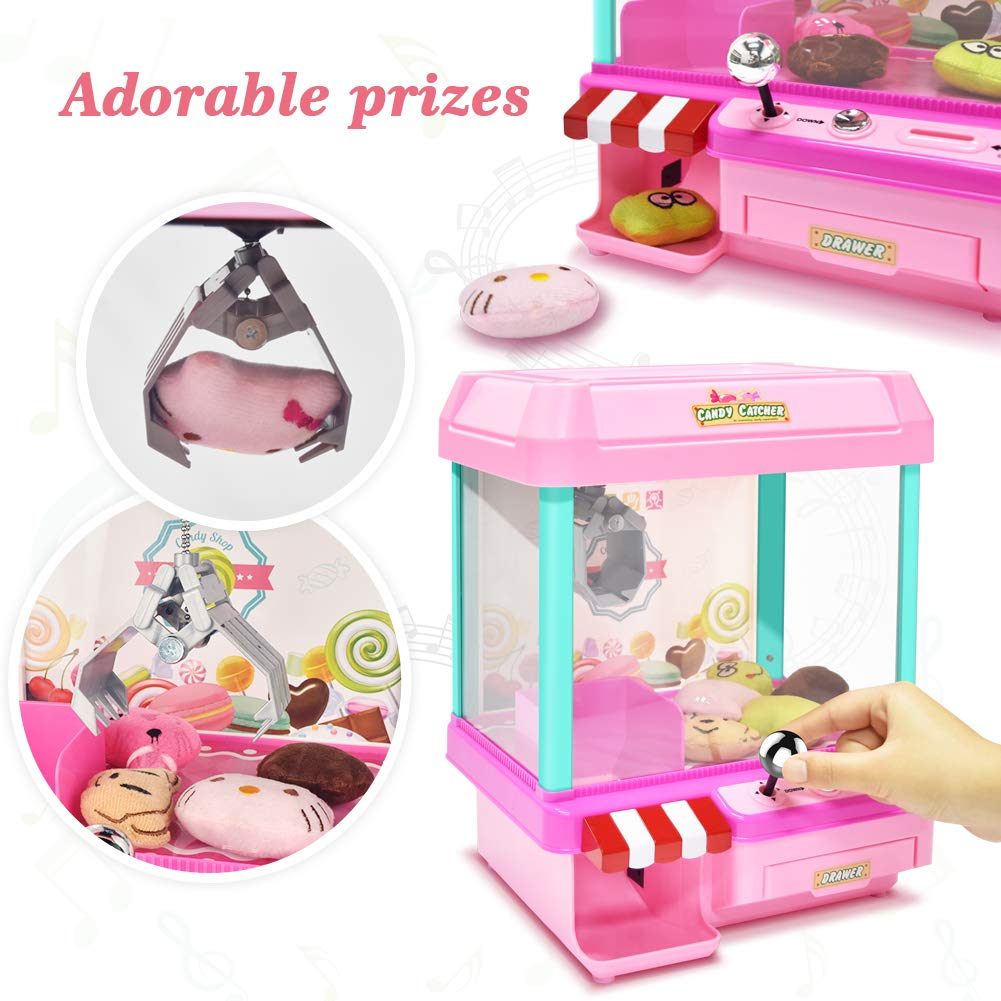 The Toy Grabber Claw Machine for Kids,Indoor Arcade Gams, Ideal for Use with Small Toys / Candy,Features LED Lights and Sound Effects, Mini Candy Claw Toys for 1 2 3 4 5 Year Old Boys Girls Best Gift by Toyk (Image #3)