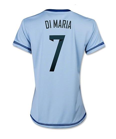Adidas DI MARIA #7 Argentina Camiseta 1ra Futbol 2015 (MUJER) - Nombre Auténtico