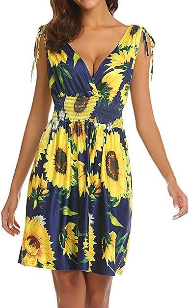COZOCO Casual Verano Maxi Vestidos Mujer Verano De Playa Vestido ...