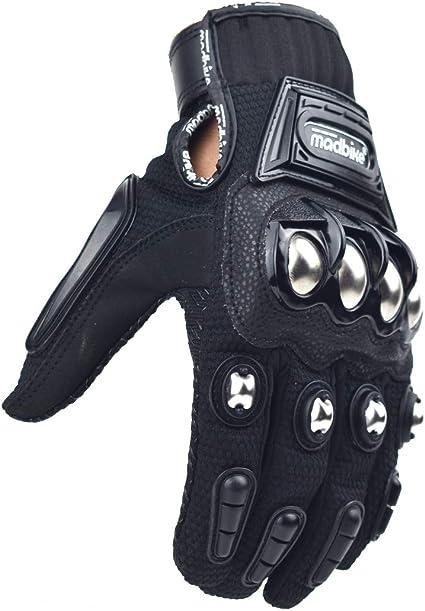 Guante de moto de carreras Madbike protecci/ón de aleaci/ón de acero
