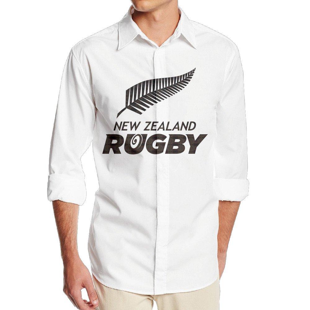 okaka nueva Zelanda Rugby Logo Manga Larga Vestido Camisa sin ...
