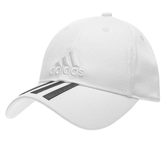 adidas Gorra de béisbol Hombre, Ajustable, diseño de 3 Rayas ...