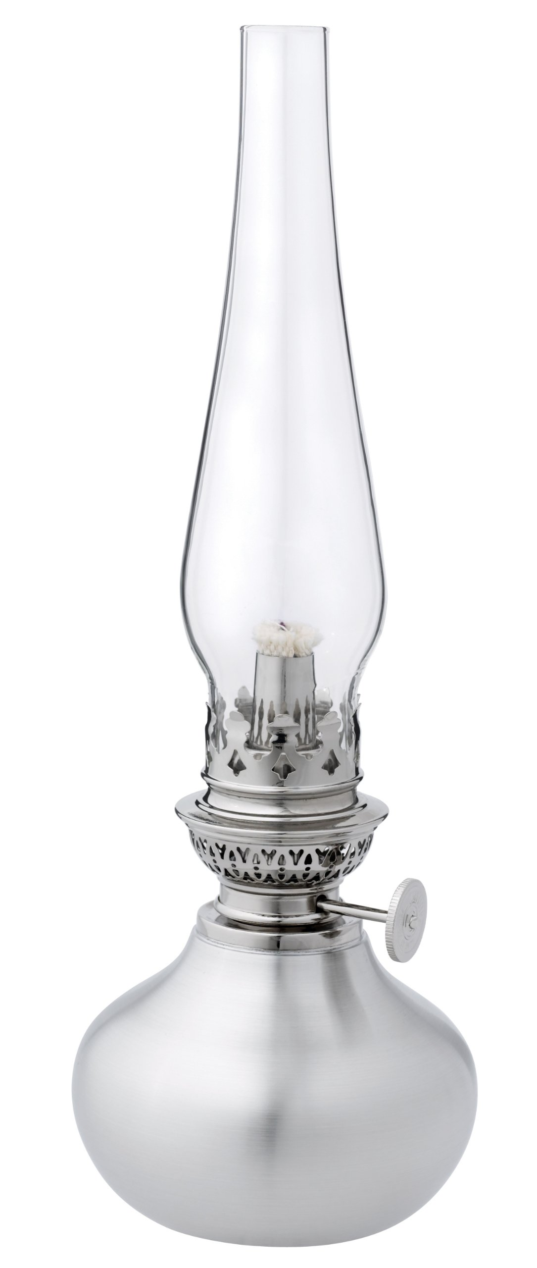Danforth Pewter Shallot Oil Lamp with 7'' Globe by Danforth