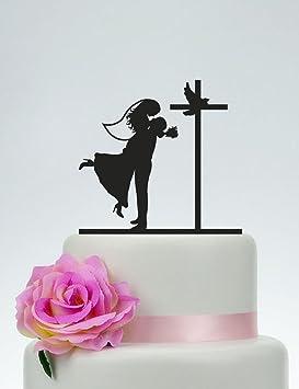 Decoración para tarta de boda con gato y perro, decoración para tarta con gato y