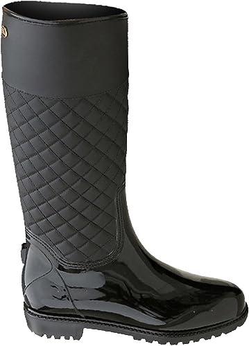 Chaussure Bottes Femme HauteMoyenne à Pluie Imperméable Tige de LaoZan mw80Nn