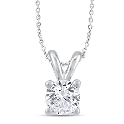 Perfect love diamond collection womens 18 ct white gold round perfect love diamond collection womens 18 ct white gold round diamond pendant necklace certified ideal aloadofball Images