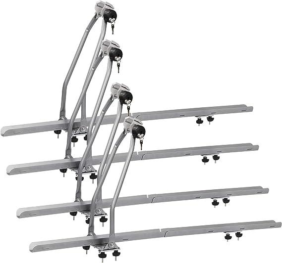 WOLTU 4X Portabicicletas para baca de Coche Soporte para Bicicletas con Cerradura Acero y Aluminio FZ1134-4: Amazon.es: Coche y moto