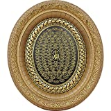Islamic Home Decor Oval Plaque Wall Art 99 Names of Allah Esma Asma 12.5 x 14.5in (Gold)