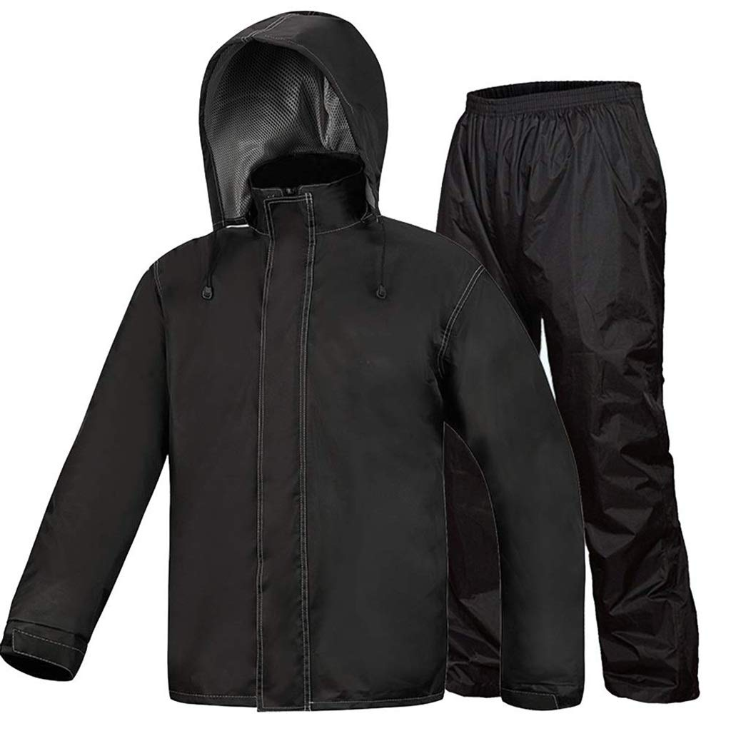 XX-grand TzJz Veste De Pluie Imperméable Poncho Rain Seal Moto Imperméable Costume Unisexe Quatre Saisons Adultes Equitation Imperméable Imperméable (Taille   XL)