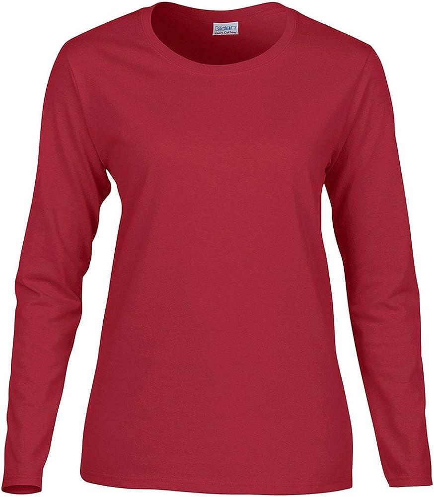 Gildan Heavy Cotton Ladies' Long-Sleeve T-Shirt, Cardinal Red