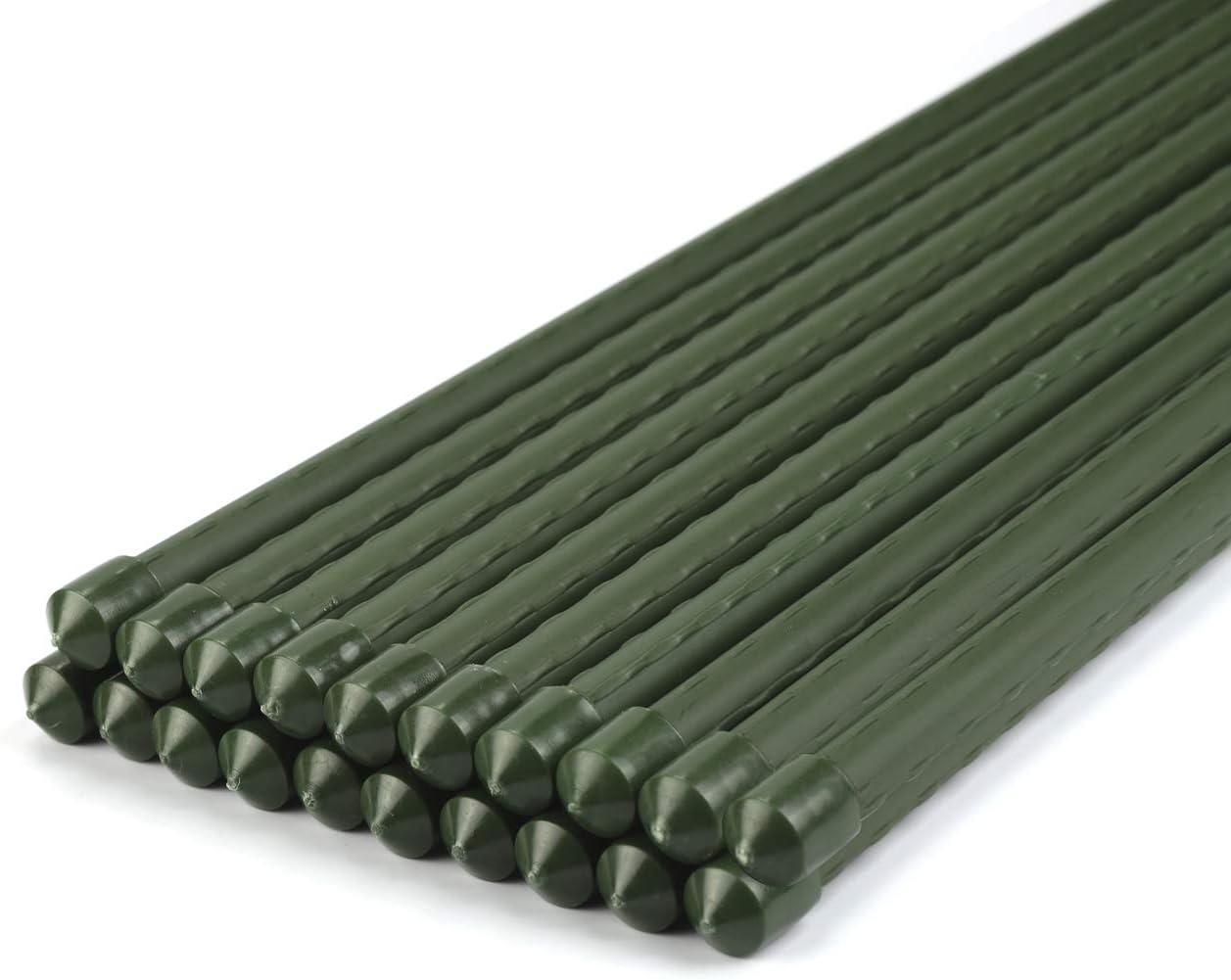 Sekey Supporti per Piante Pali per Piante da Sostegno per Piante da Giardino in Canna Tubo in Acciaio Rivestito in plastica /Ø 8mm Pacco Lungo 75 cm 10
