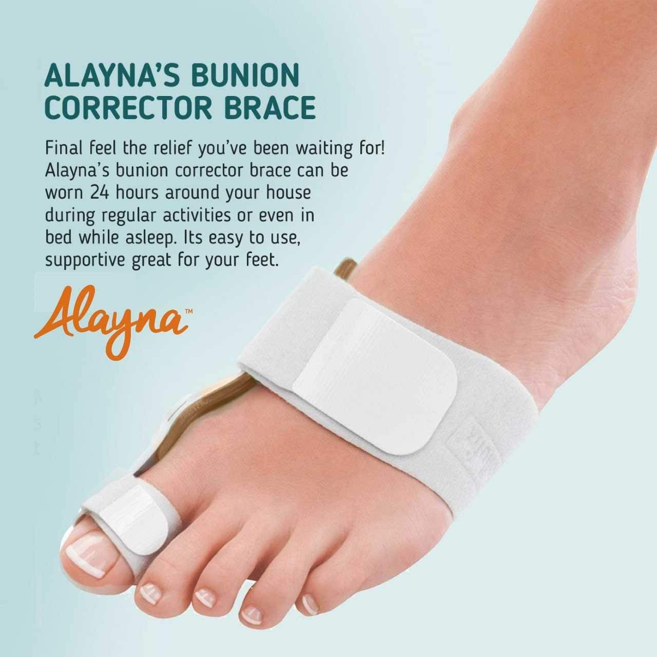 Bunion Corrector and Bunion Relief Orthopedic Bunion Splint Pads for Men and Women Hammer Toe Straightener and Bunion Protector Cushions- Relieve Hallux Valgus Foot Pain and Soothe Sore Bunions by Alayna (Image #5)