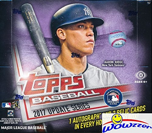2017 Topps Update MLB Baseball ENORMOUS Factory Sealed HOBBY JUMBO Box with 500 Cards & AUTOGRAPH & 2 RELIC! Look for Rookies, Variations & Autographs of Aaron Judge, Cody Bellinger & Many More!