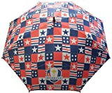 """Celebrate USA's Ryder Cup victory with this stylish Loudmouth Umbrella with the Hazeltine logo.       Features:                 Material: 100% Nylon         62"""" size coverage         Slip resistant rubber handle         Lightweight des..."""