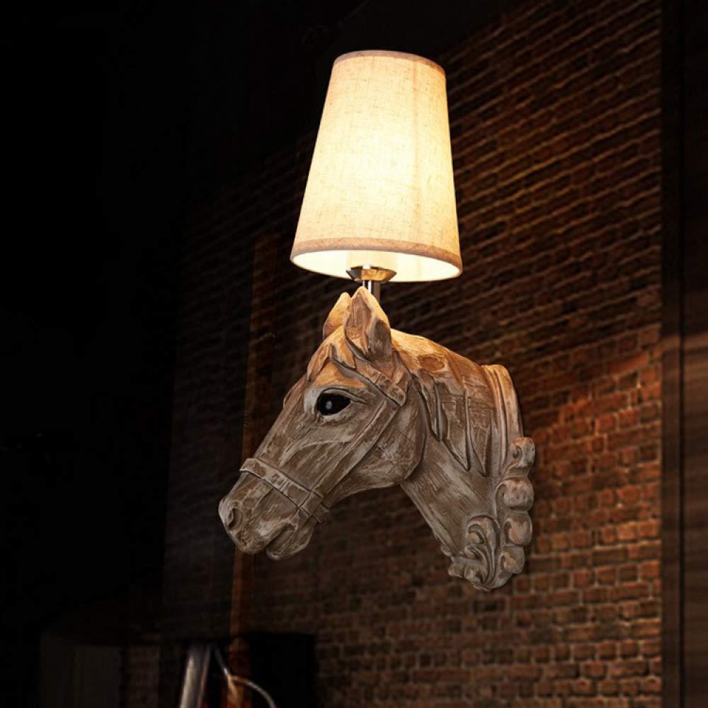 Wall lamp Harzkopfkopfwandlampe, Europäisches Retro-Kreativ-Design, Geeignet Für Bar-Restaurant Decoration Hotel Bedside 43  16cm,OneFarbe